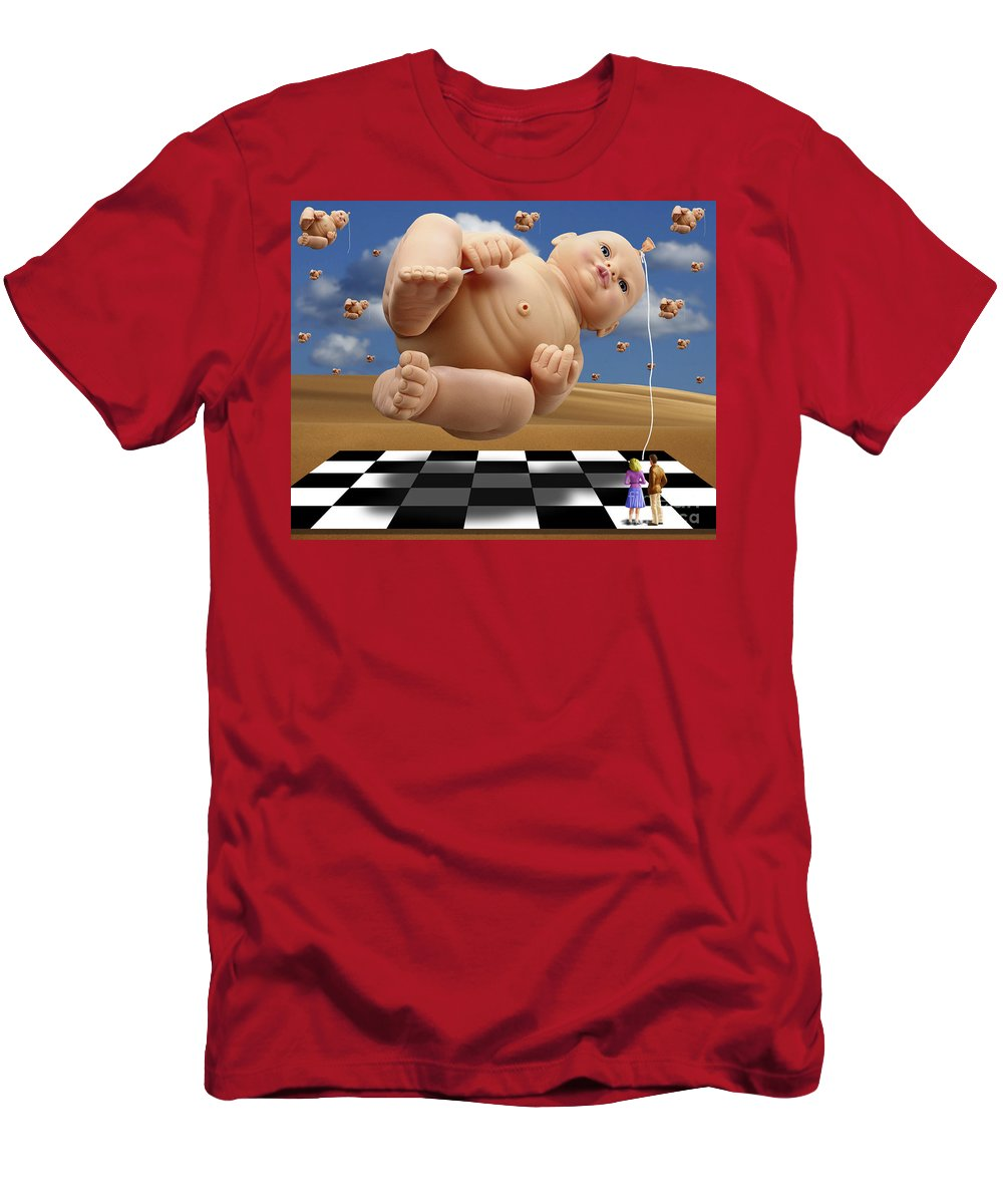 Surreal Digital Art Men's T-Shirt (Athletic Fit) featuring the digital art Which One by Keith Dillon