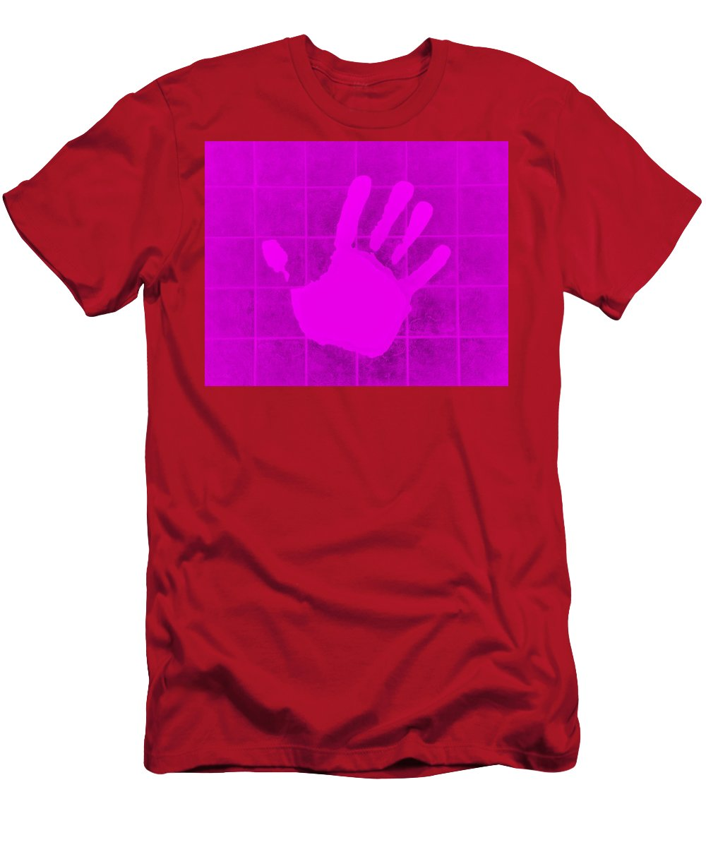 Hand Men's T-Shirt (Athletic Fit) featuring the photograph White Hand Purple by Rob Hans