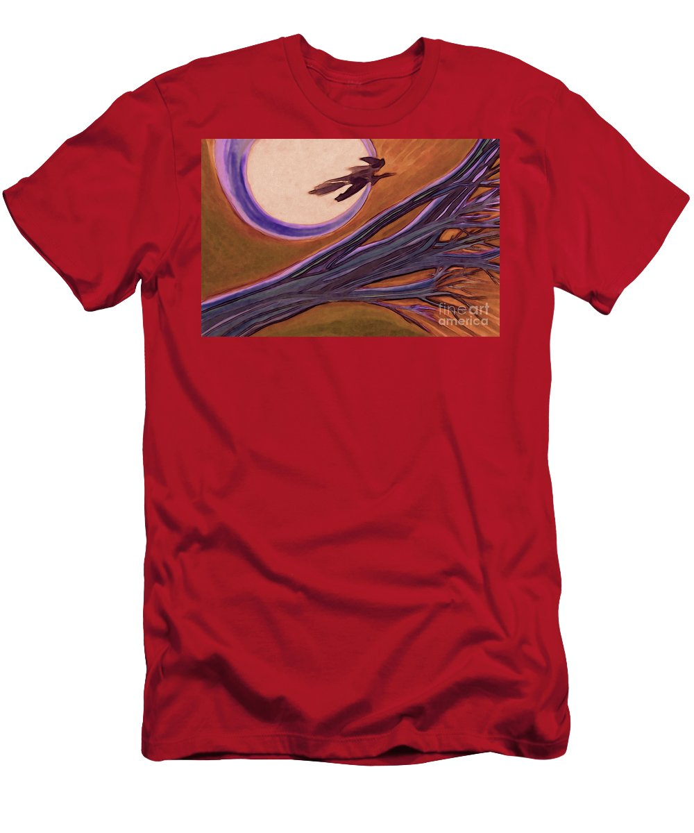 First Star Art Men's T-Shirt (Athletic Fit) featuring the drawing Witches' Branch Purple by First Star Art
