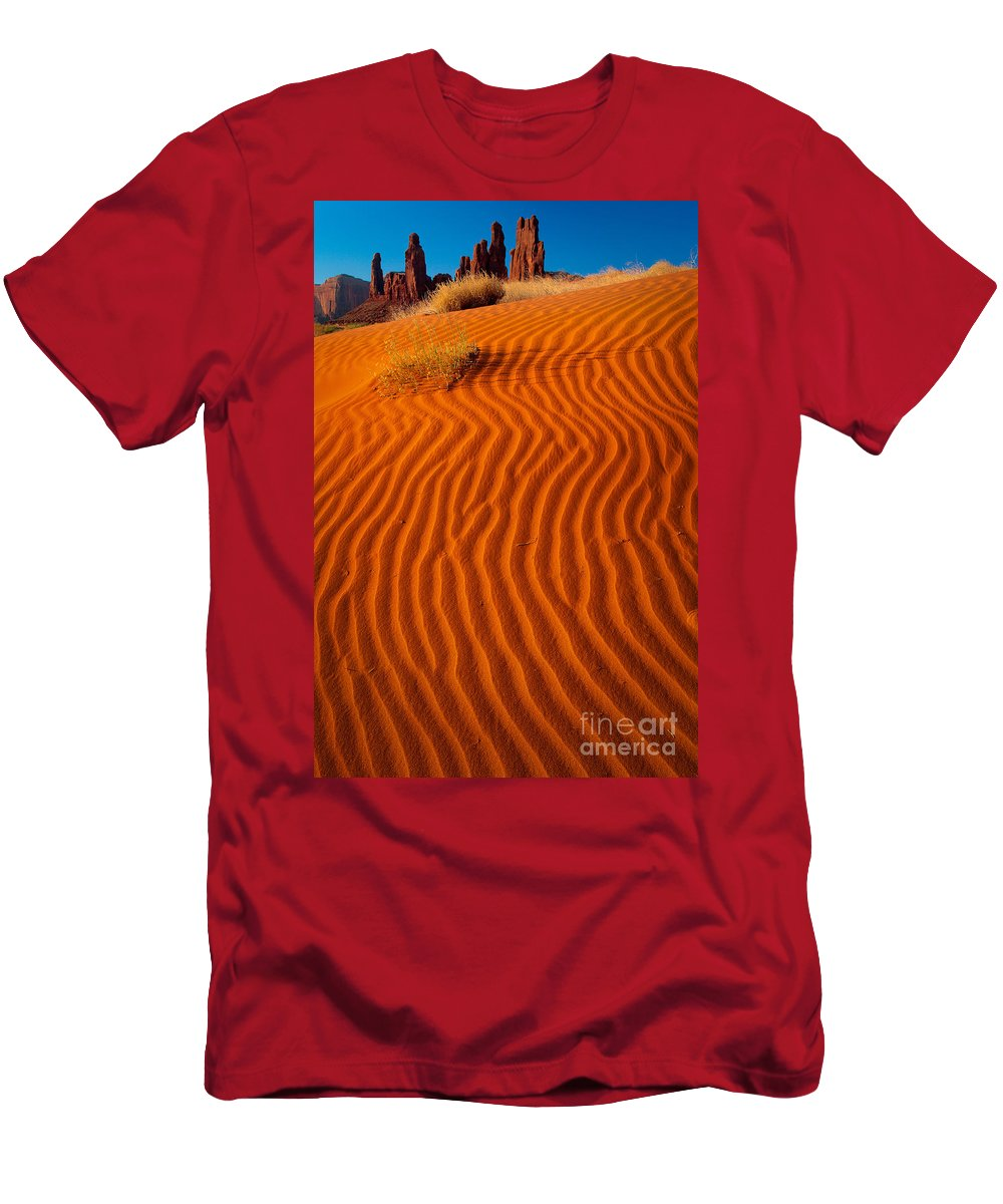 America Men's T-Shirt (Athletic Fit) featuring the photograph Yei-bi-chai by Inge Johnsson