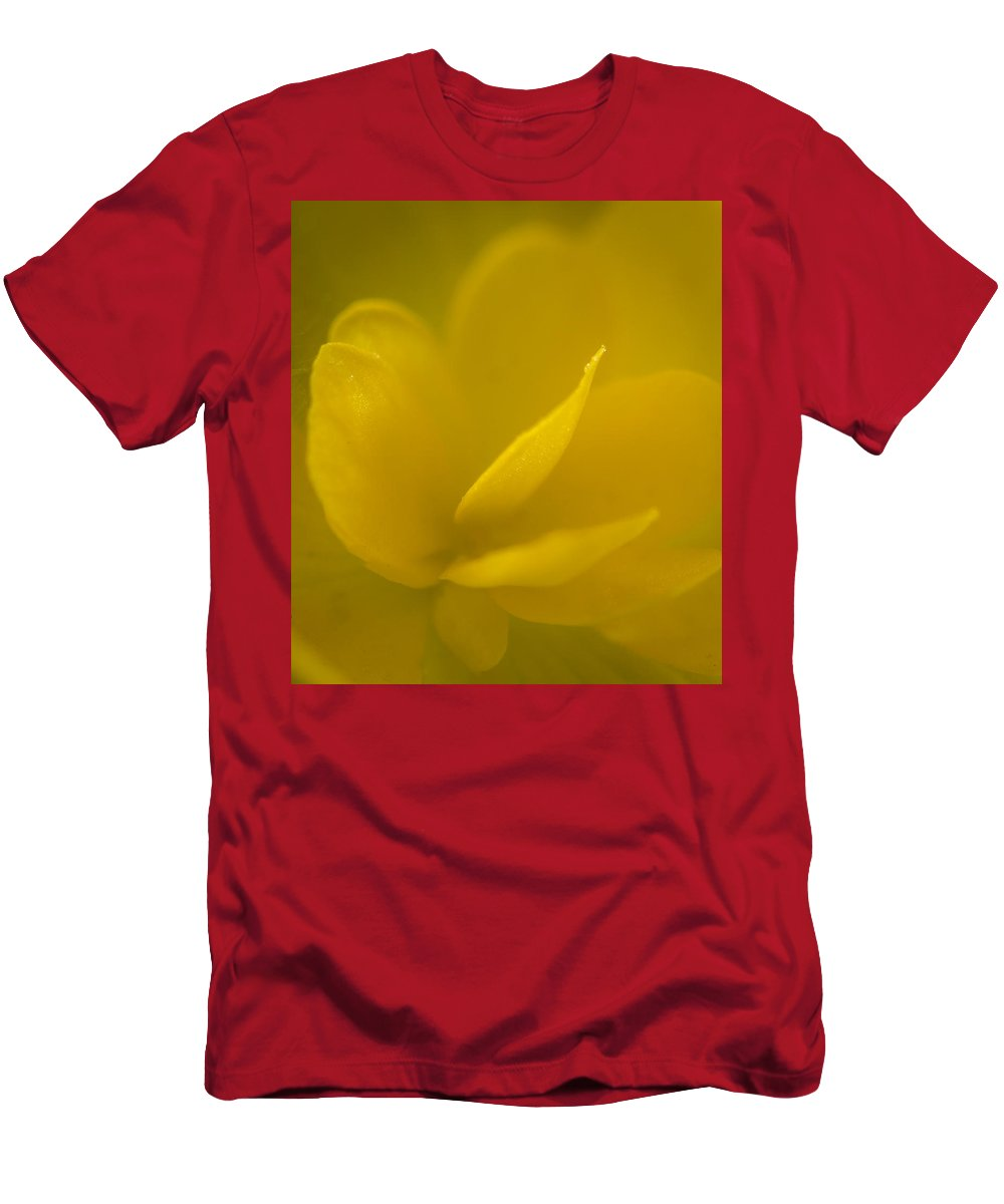 Florida Men's T-Shirt (Athletic Fit) featuring the photograph Yellow Begonia by Jane Luxton