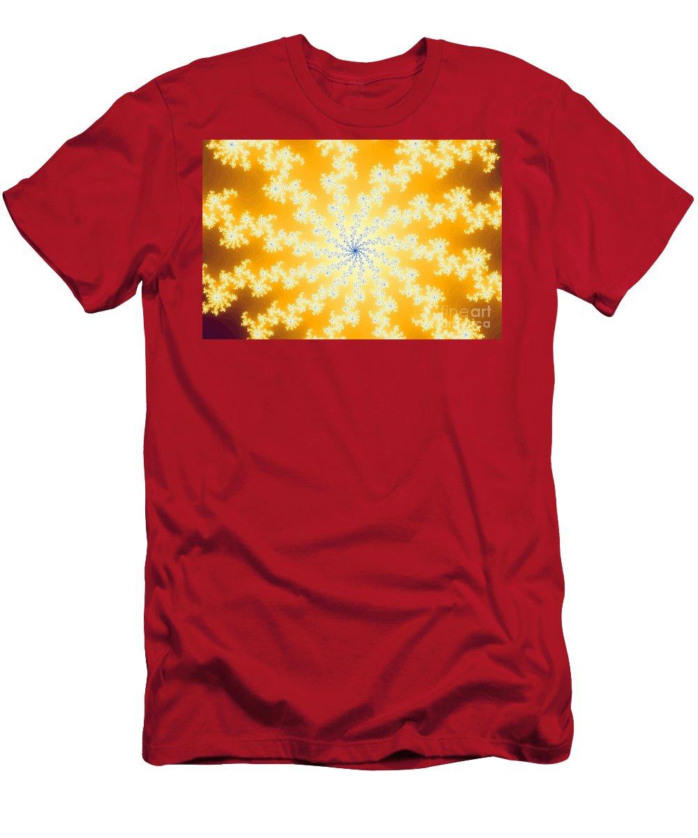 Yellow Men's T-Shirt (Athletic Fit) featuring the digital art Yellow Fractal by Henrik Lehnerer
