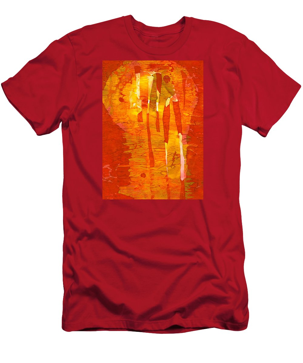 Abstract Men's T-Shirt (Athletic Fit) featuring the painting Zest by Lynda Hoffman-Snodgrass