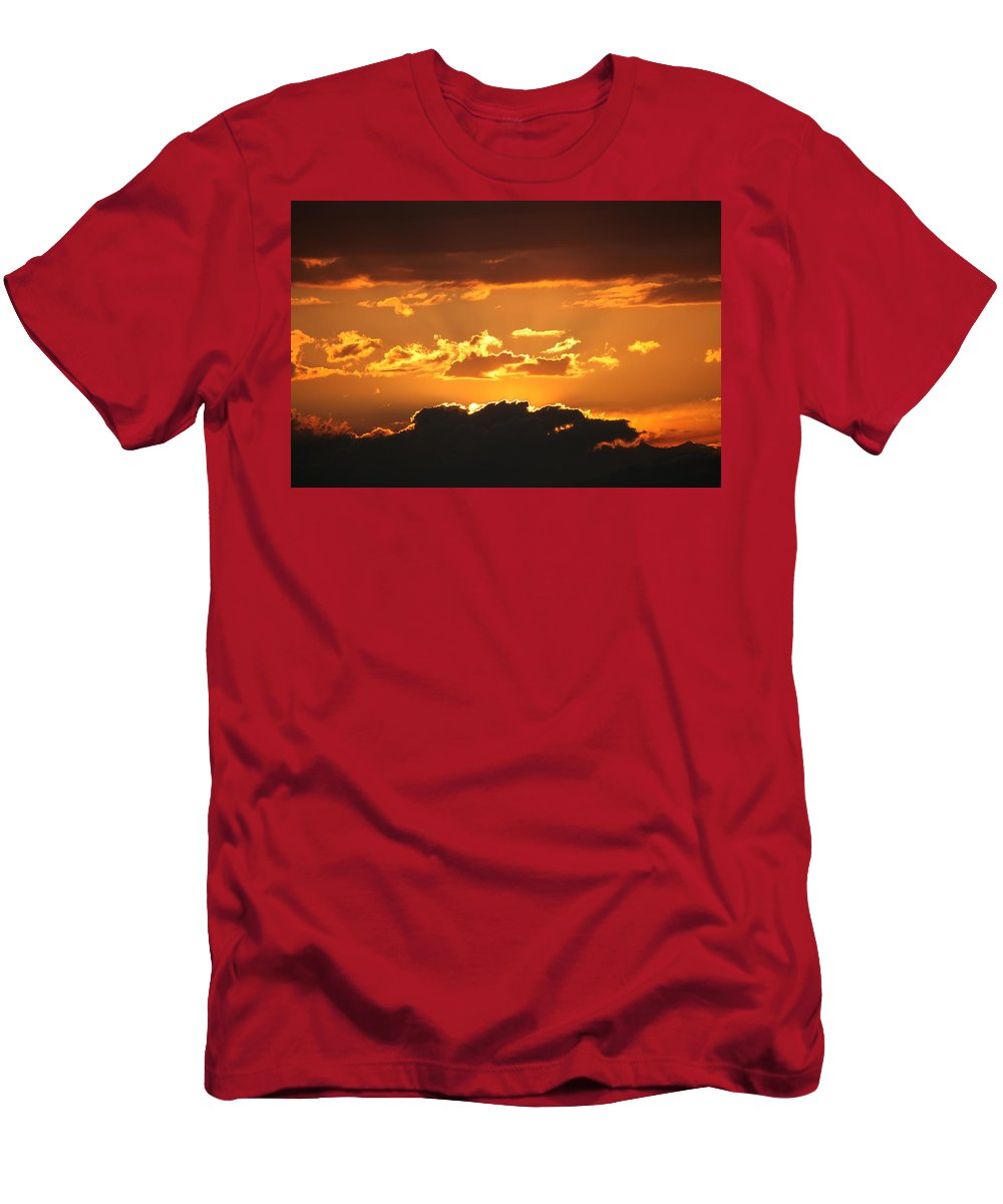 Sunset Men's T-Shirt (Athletic Fit) featuring the photograph Sunset by Francesco Scali