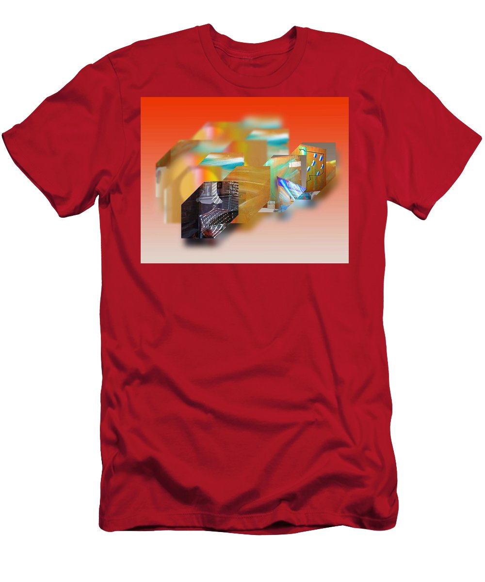 Interior Men's T-Shirt (Athletic Fit) featuring the painting Tsunami Interior by Charles Stuart