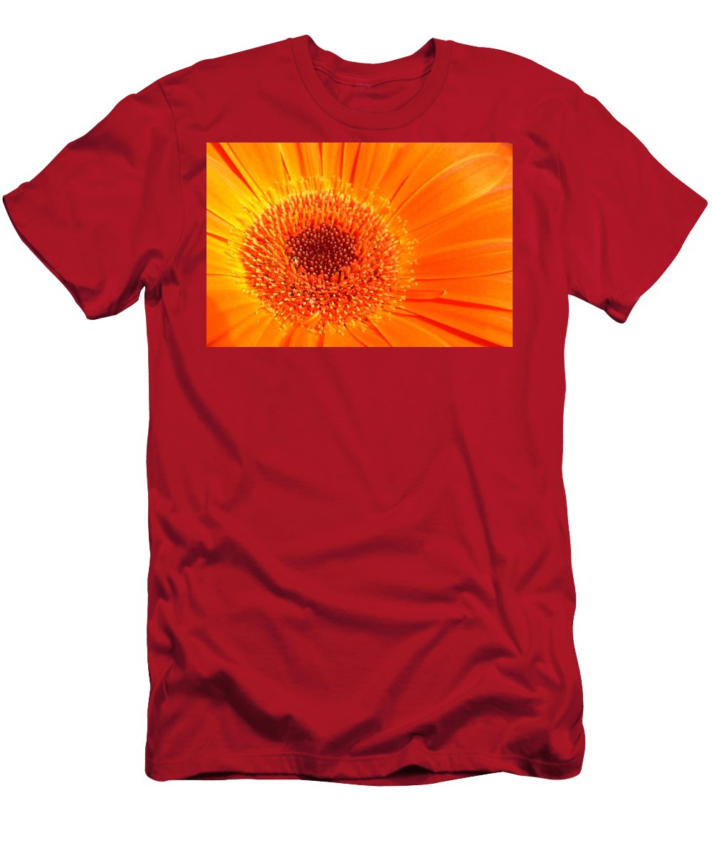 Gerbera Photographs Men's T-Shirt (Athletic Fit) featuring the photograph 1229-003 by Kimberlie Gerner