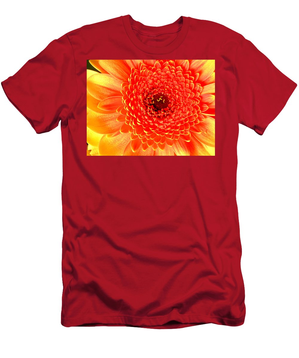 Gerbera Photographs Men's T-Shirt (Athletic Fit) featuring the photograph 2116-001 by Kimberlie Gerner