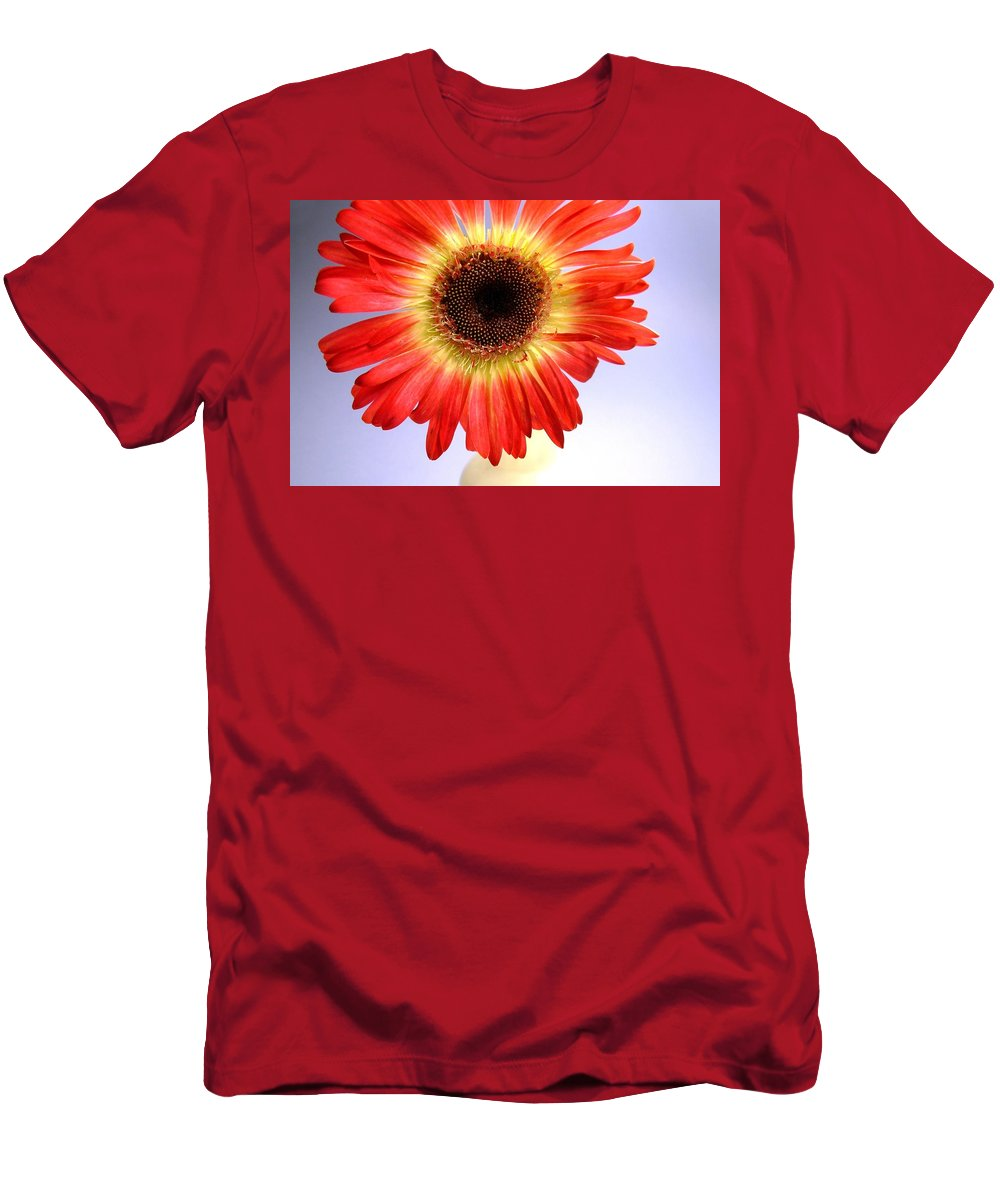 Gerbera Photographs Men's T-Shirt (Athletic Fit) featuring the photograph 2221c1-002 by Kimberlie Gerner