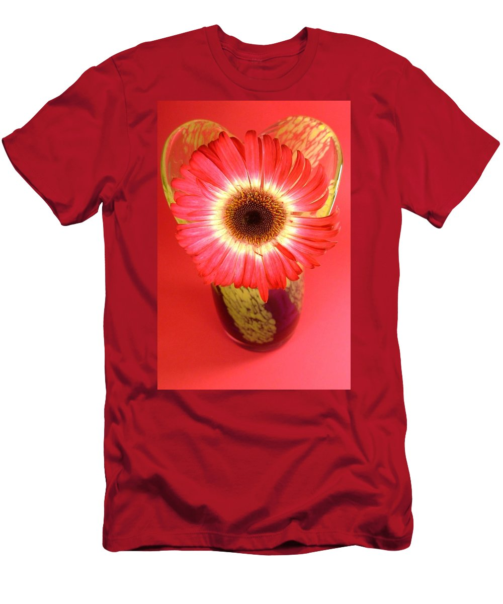 Gerbera Photographs Men's T-Shirt (Athletic Fit) featuring the photograph 2406c-003 by Kimberlie Gerner