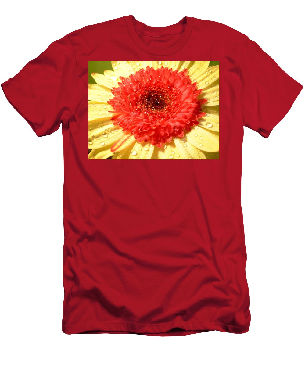 Gerbera Photographs Men's T-Shirt (Athletic Fit) featuring the photograph 3112-001 by Kimberlie Gerner