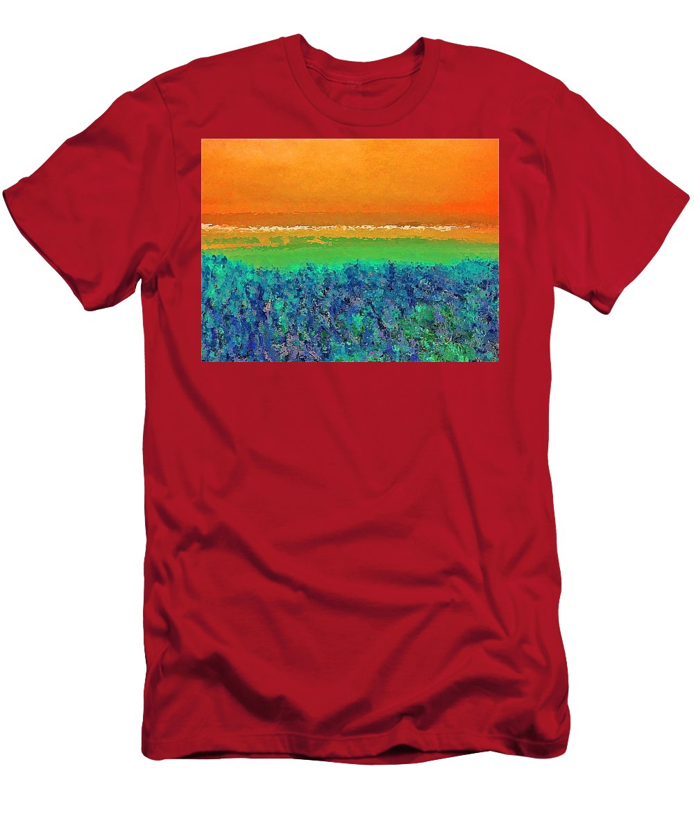 Abstract Men's T-Shirt (Athletic Fit) featuring the photograph Abstract 133 by Pamela Cooper