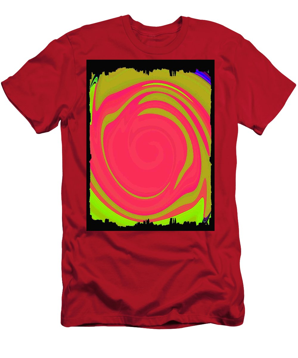 Color Merge Men's T-Shirt (Athletic Fit) featuring the digital art Abstract Color Merge by Will Borden