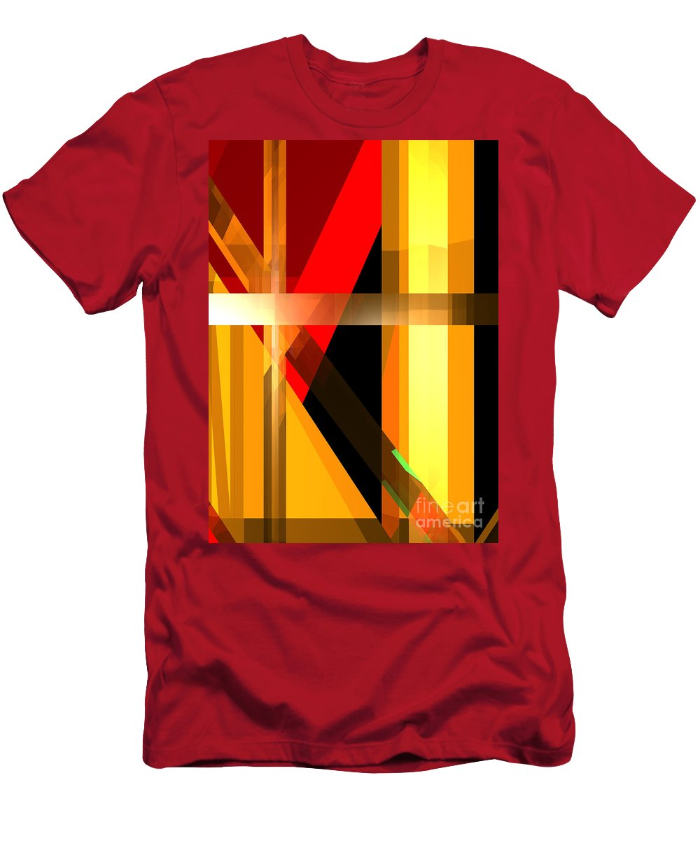 Abstract Men's T-Shirt (Athletic Fit) featuring the digital art Abstract Tan 6 by Russell Kightley