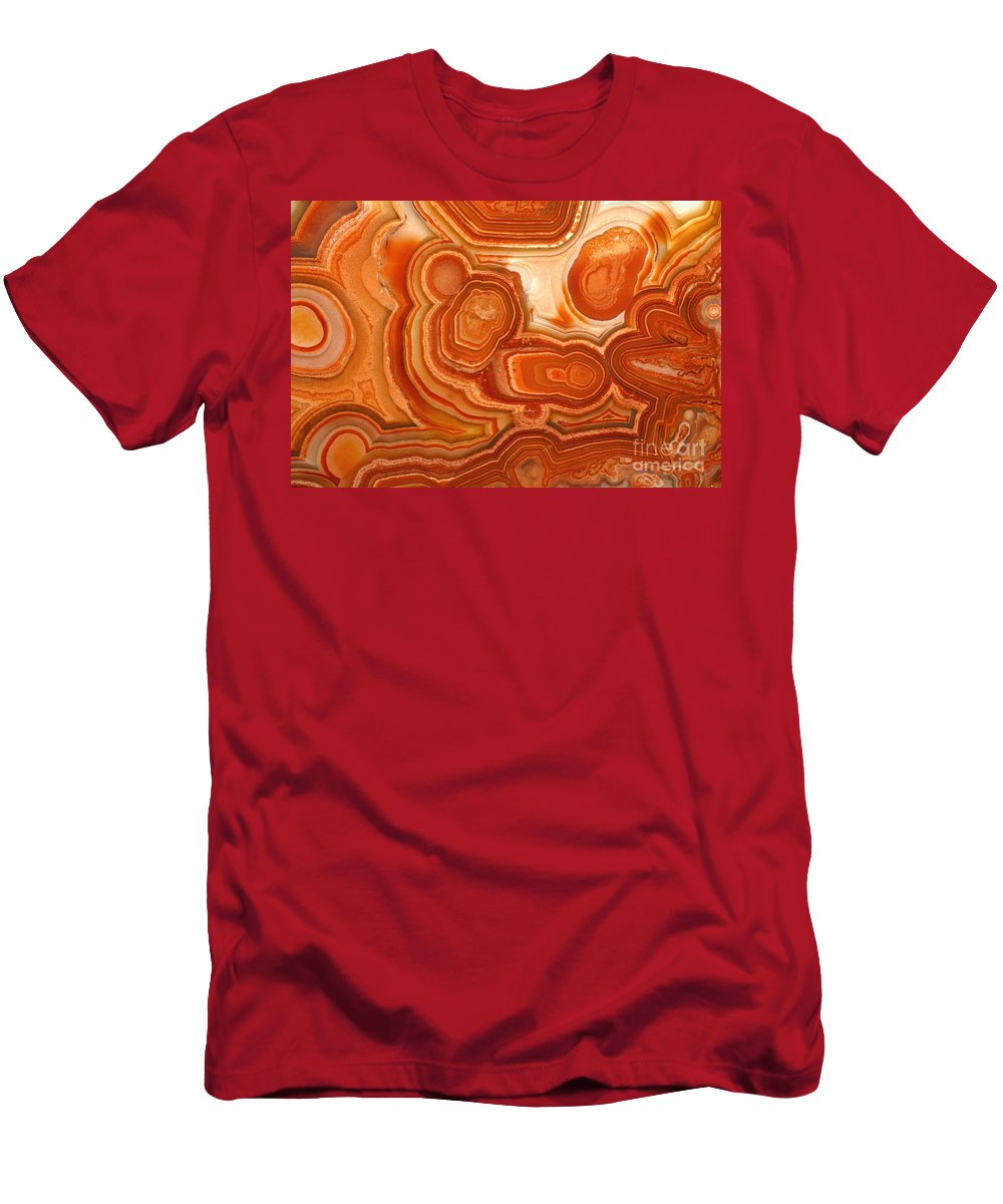Agate Men's T-Shirt (Athletic Fit) featuring the photograph Agate by Ted Kinsman