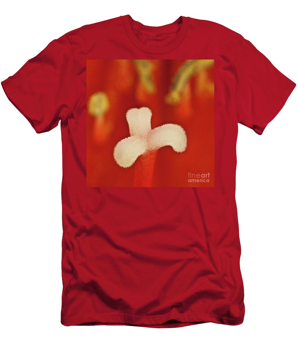 Amaryllis Men's T-Shirt (Athletic Fit) featuring the photograph Amaryllis by Heiko Koehrer-Wagner