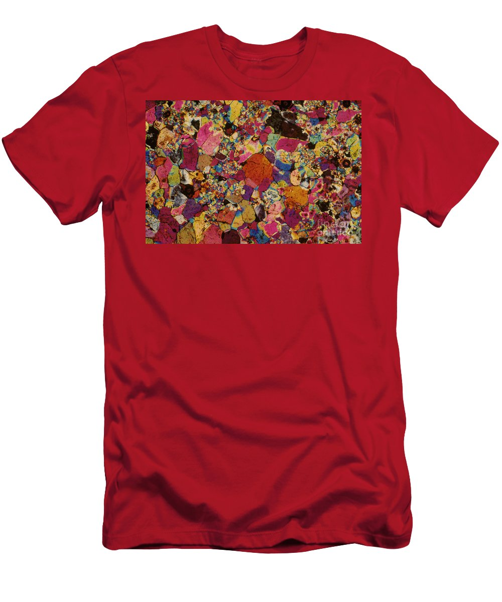 Amethyst Men's T-Shirt (Athletic Fit) featuring the photograph Amethyst by Michael W. Davidson