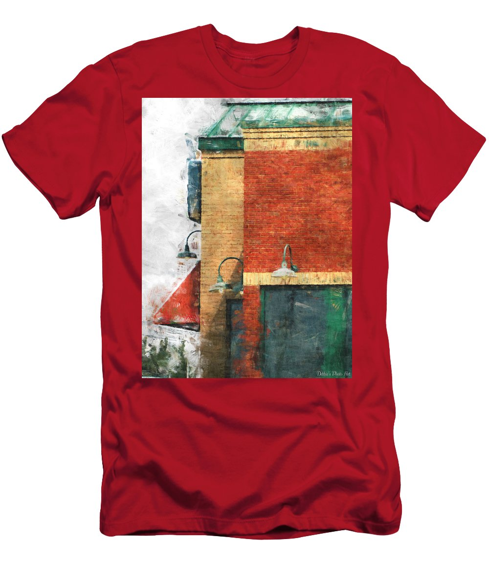 Arcitecture Men's T-Shirt (Athletic Fit) featuring the digital art Arcitecture Painted Effect by Debbie Portwood