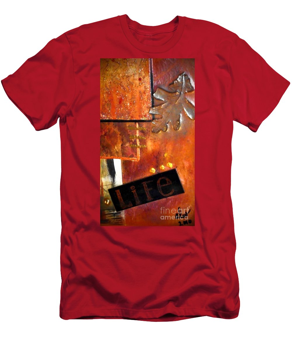 Greeting Cards Men's T-Shirt (Athletic Fit) featuring the photograph Autumn Life by Angela L Walker