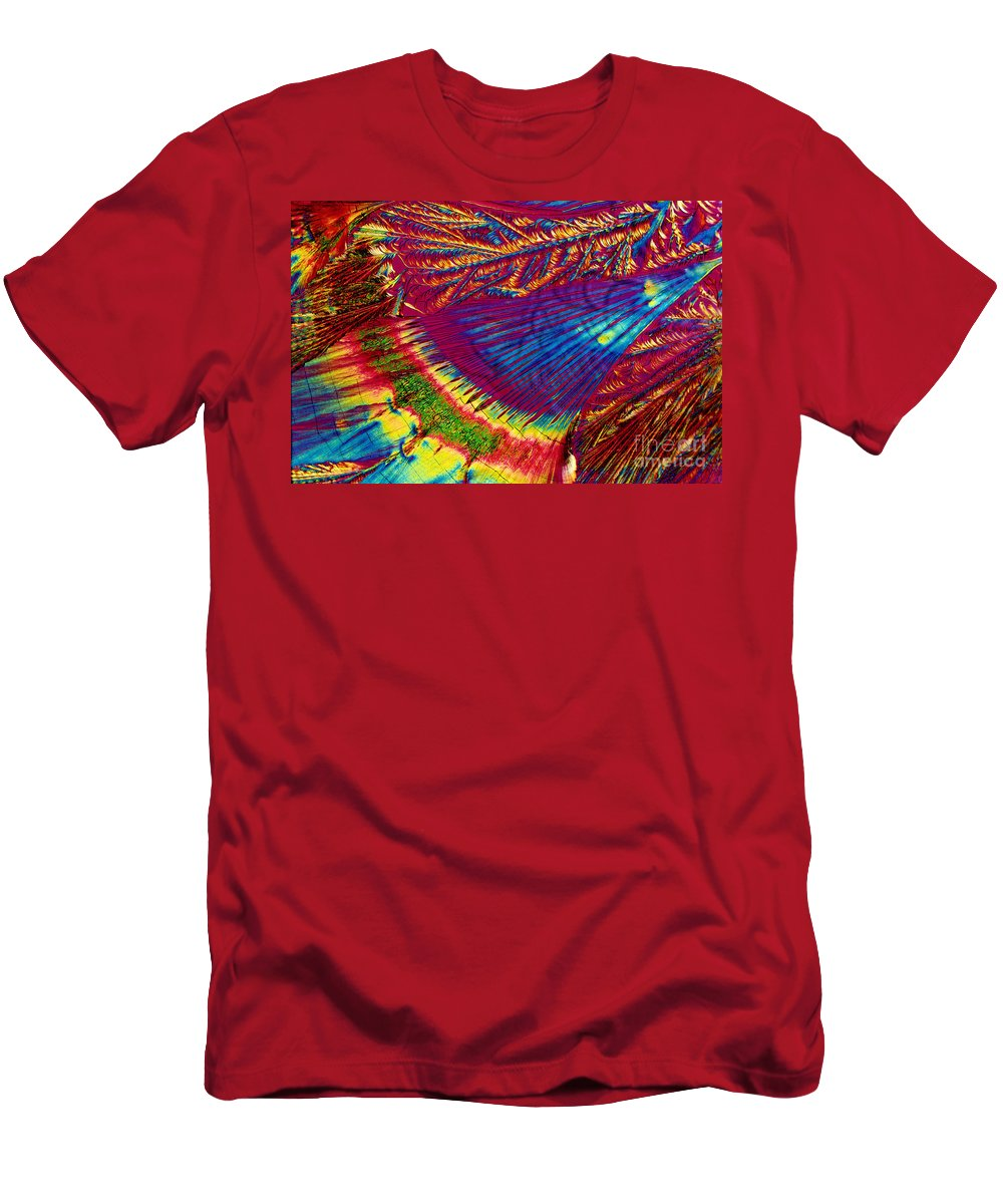 Crystal Men's T-Shirt (Athletic Fit) featuring the photograph Azt by Michael W. Davidson