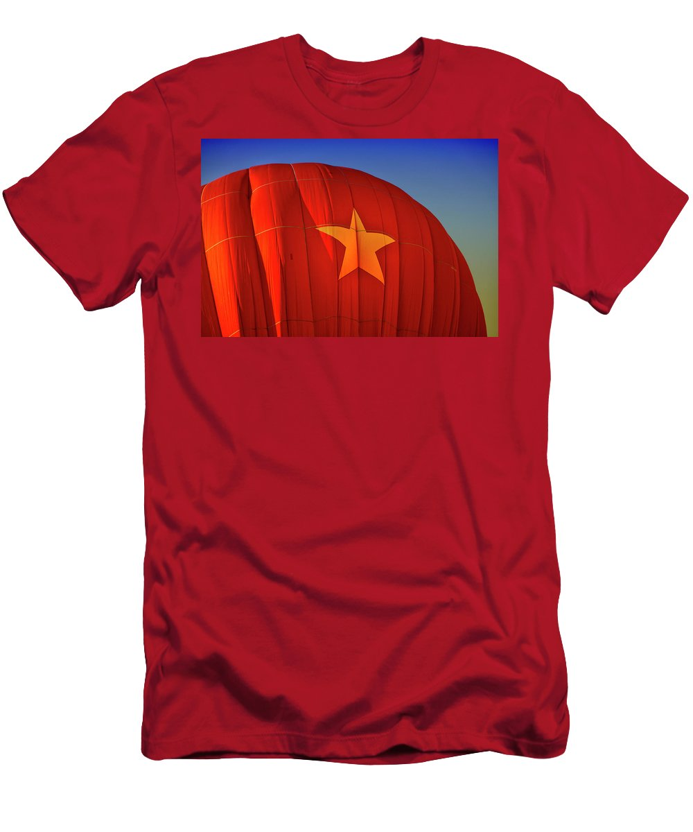 Hot Air Balloon Men's T-Shirt (Athletic Fit) featuring the digital art Back In The Ussr by Gary Baird