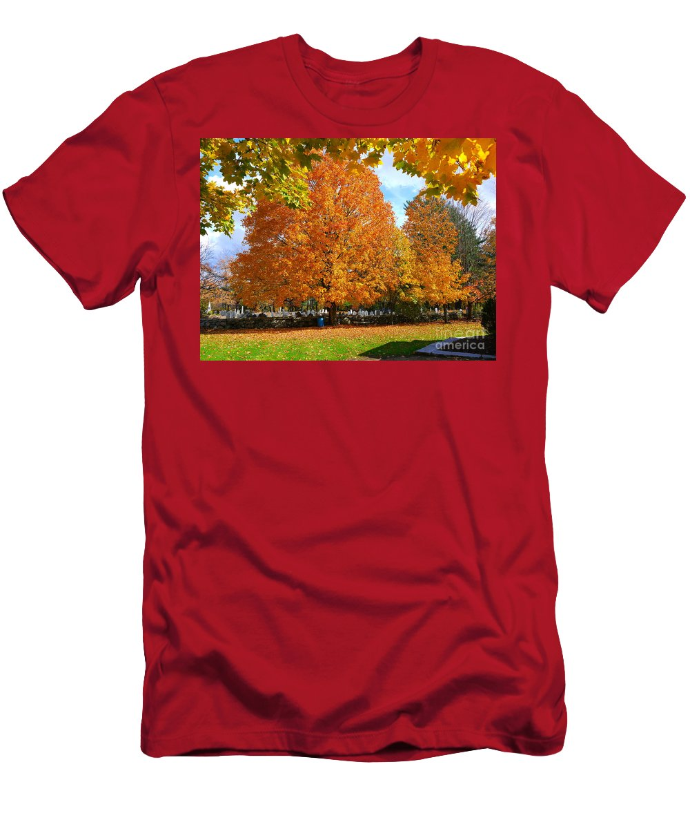 Fall Men's T-Shirt (Athletic Fit) featuring the photograph Beautiful New England Colors by Nancie DeMellia