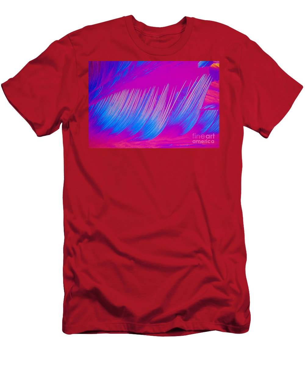 Chemistry Men's T-Shirt (Athletic Fit) featuring the photograph Beta-carotene Crystal by Michael W. Davidson