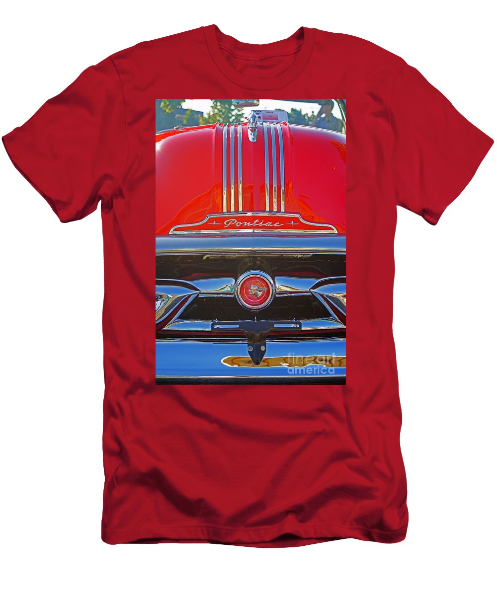 Custom Cars Men's T-Shirt (Athletic Fit) featuring the photograph Big Red Pontiac by Randy Harris