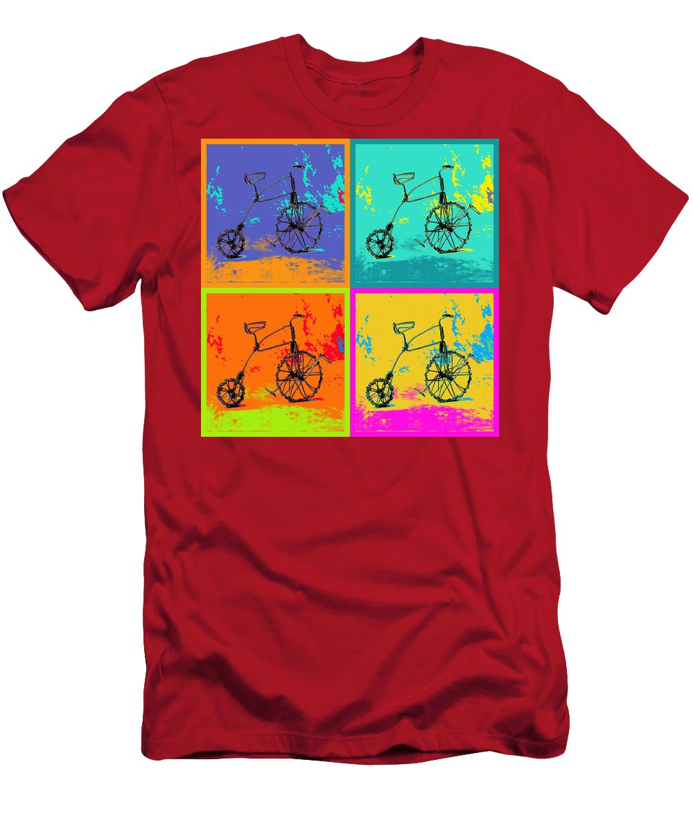 Art Men's T-Shirt (Athletic Fit) featuring the pyrography Bike 1b by Mauro Celotti