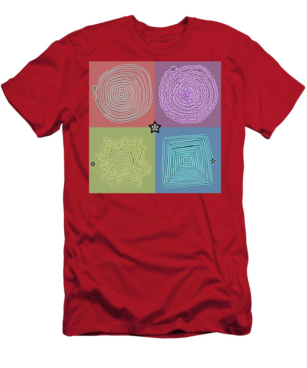 Digital Art Men's T-Shirt (Athletic Fit) featuring the drawing Birth Of A Star by Sumit Mehndiratta