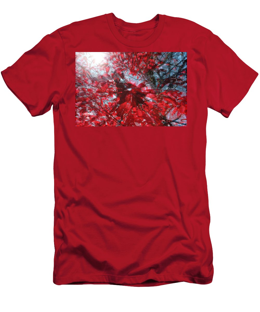 Black And Red Crescendo Men's T-Shirt (Athletic Fit) featuring the photograph Black And Red Crescendo by Seth Weaver