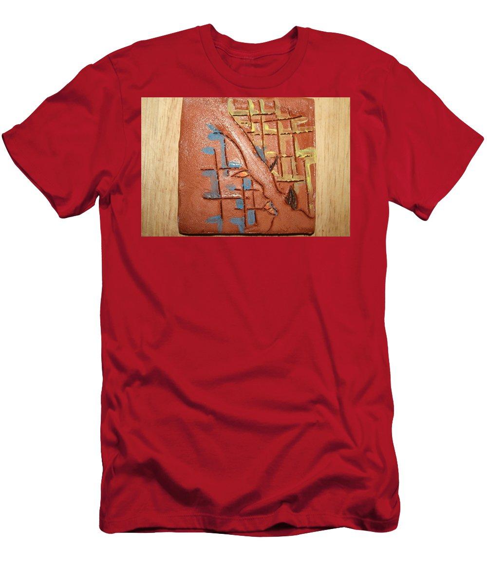 Jesus Men's T-Shirt (Athletic Fit) featuring the ceramic art Bridges - Tile by Gloria Ssali