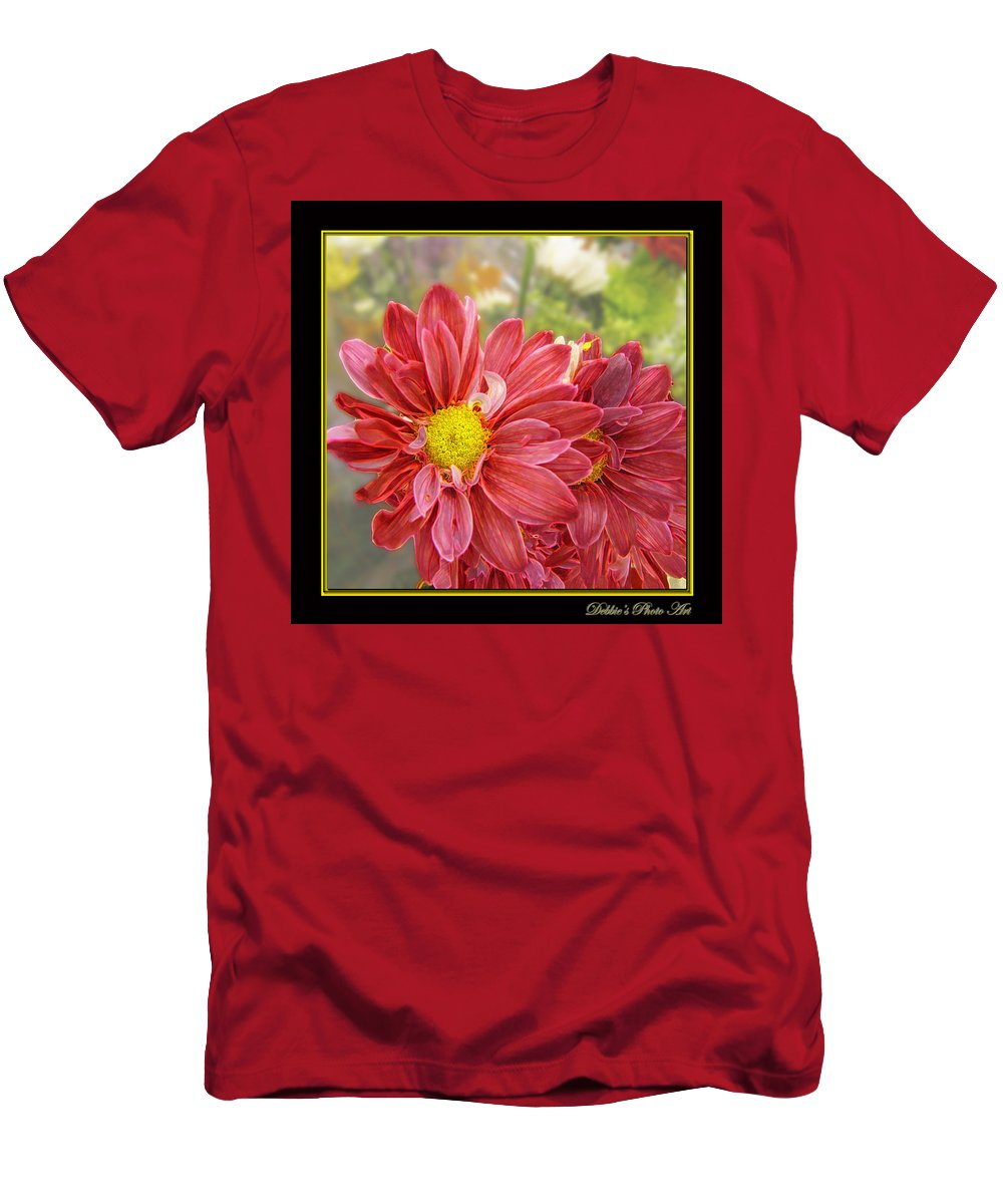 Nature Men's T-Shirt (Athletic Fit) featuring the digital art Bright Edges by Debbie Portwood
