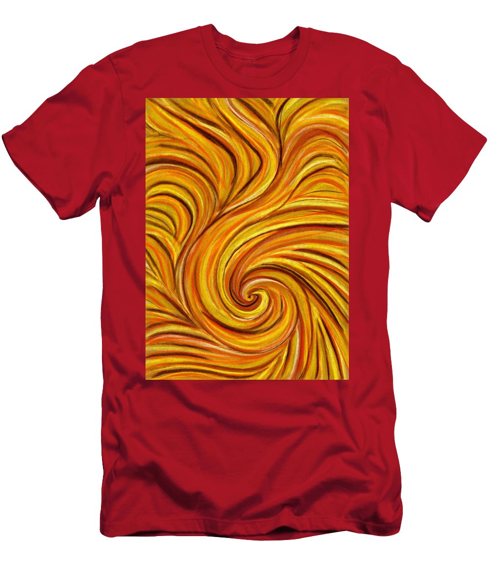 Swirl Men's T-Shirt (Athletic Fit) featuring the painting Brown Swirl by Hakon Soreide