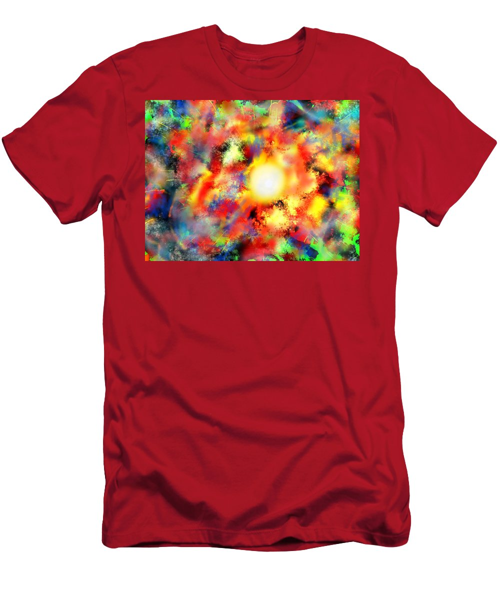Men's T-Shirt (Athletic Fit) featuring the digital art burn my Sun by Mathieu Lalonde