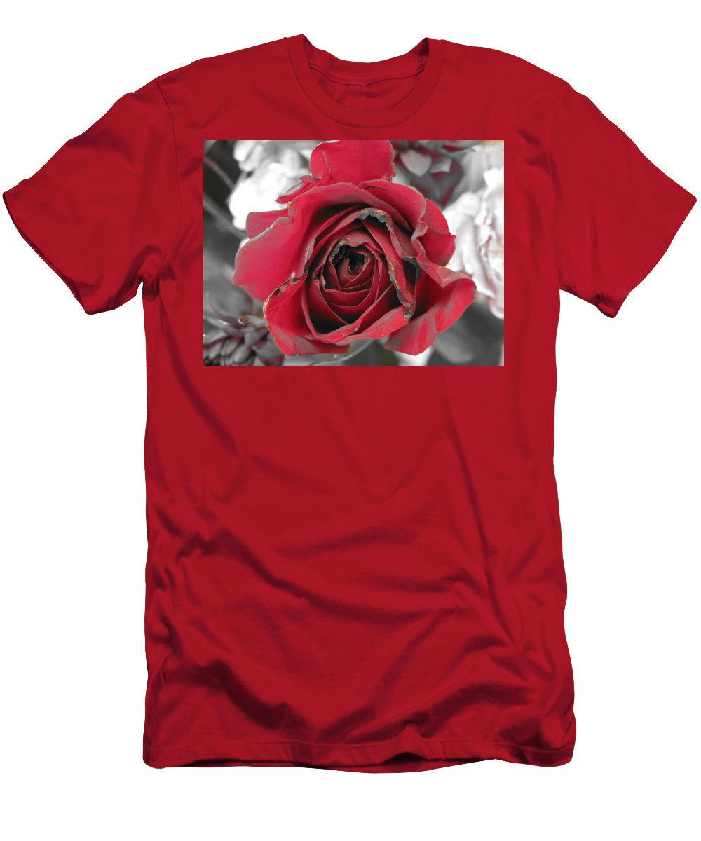 Men's T-Shirt (Athletic Fit) featuring the photograph Burning Desire by Michele Nelson
