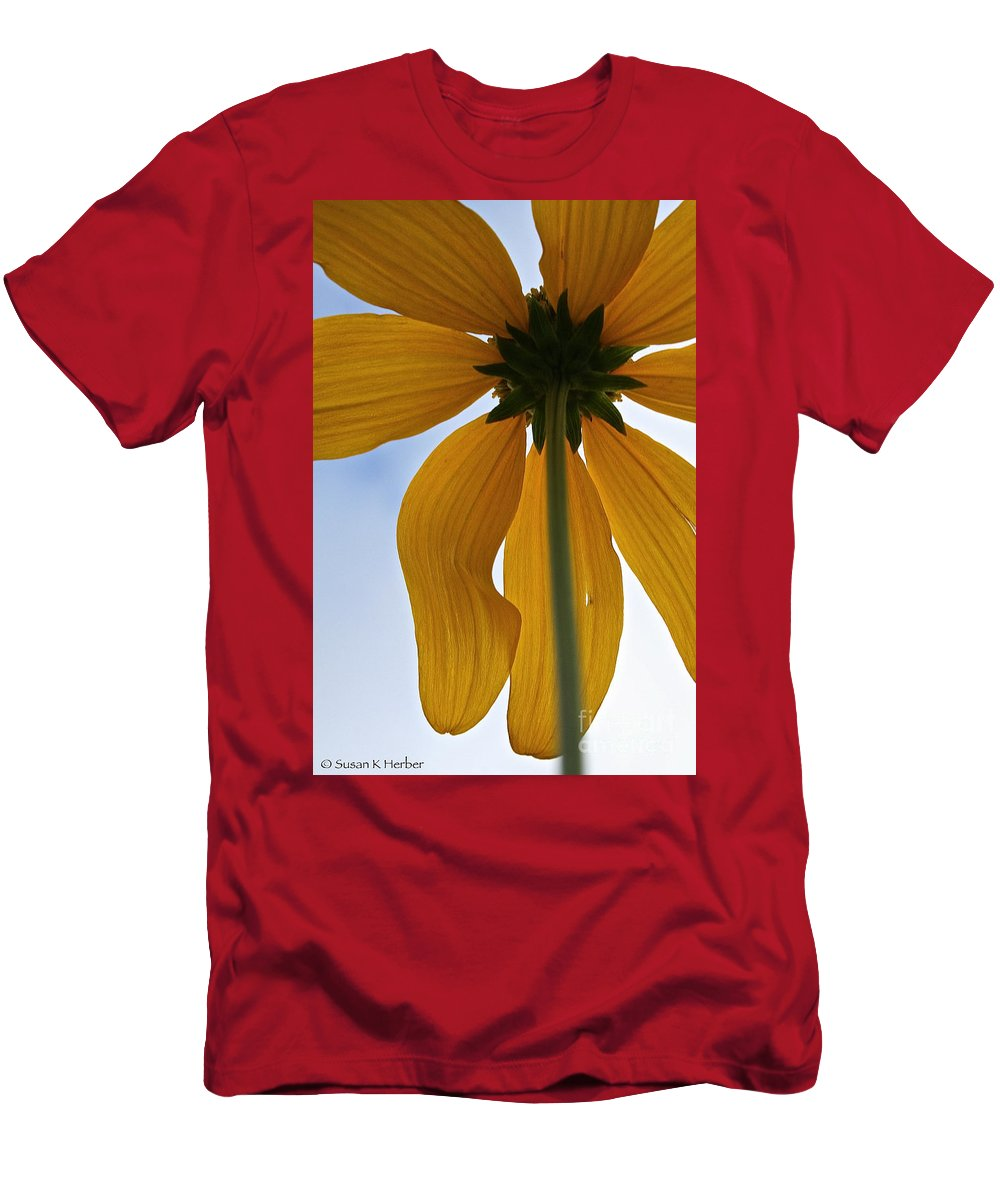 Plant Men's T-Shirt (Athletic Fit) featuring the photograph Butterfingers by Susan Herber