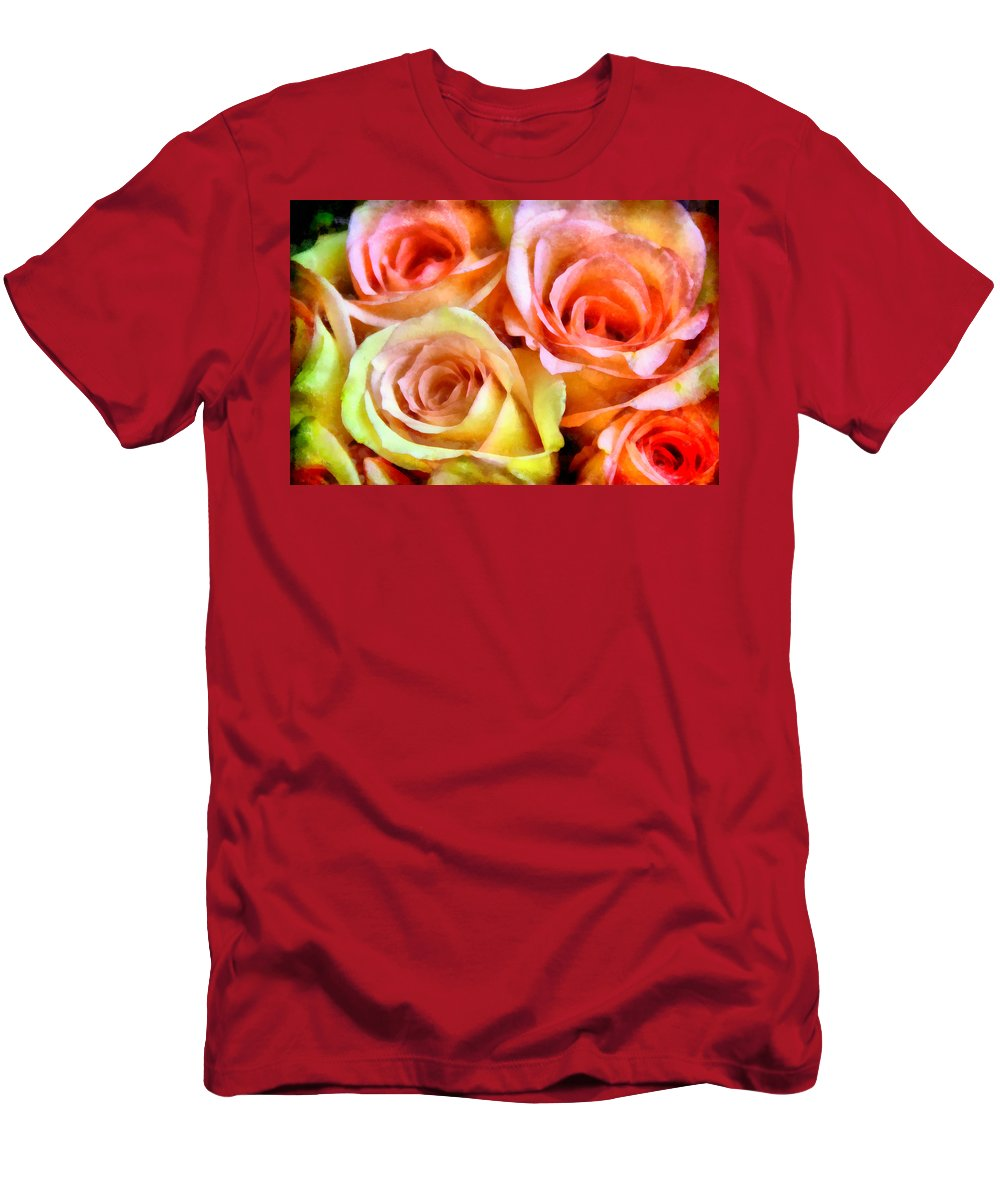 Caress Men's T-Shirt (Athletic Fit) featuring the photograph Caressing by Angelina Vick
