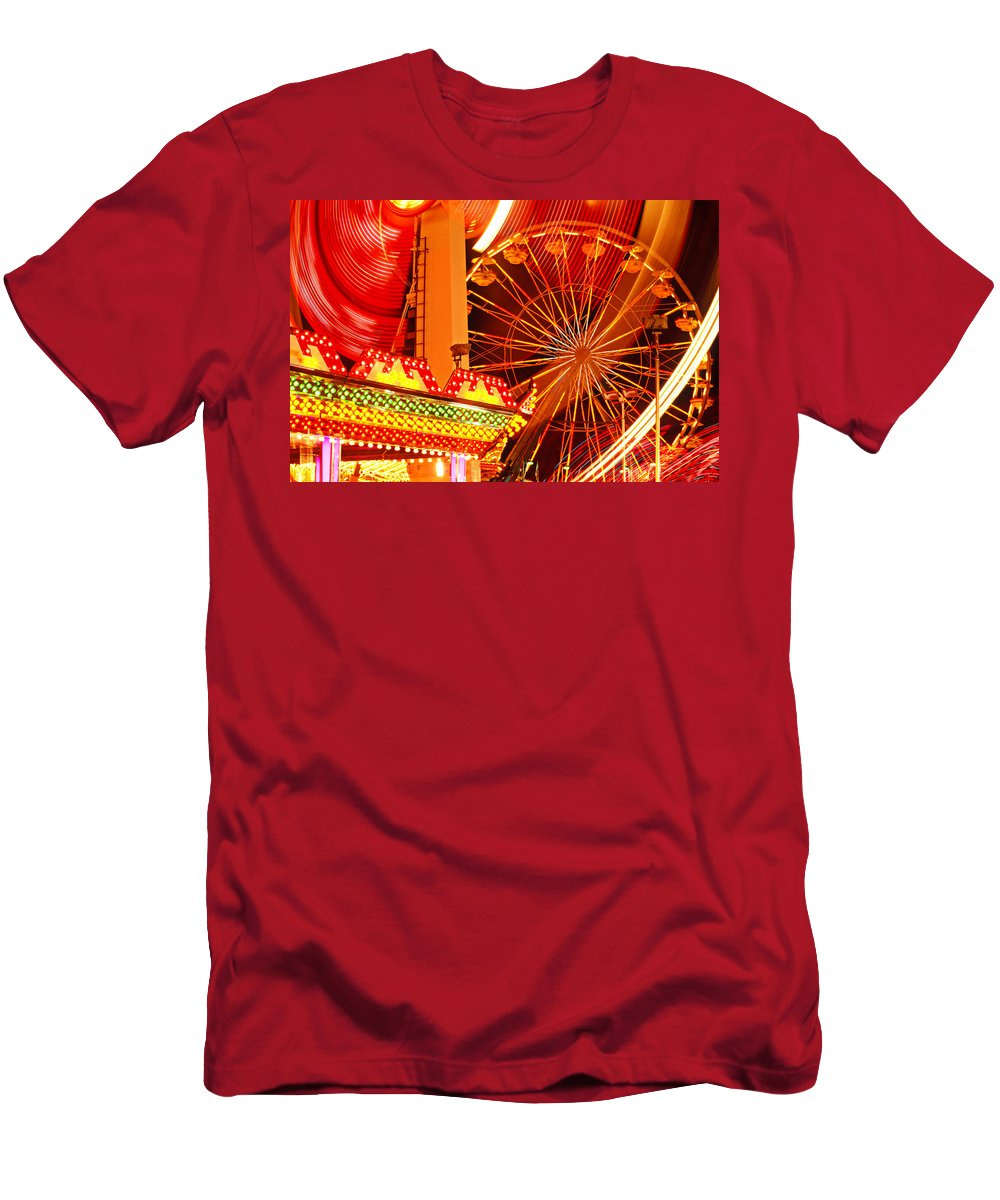 Carnival Men's T-Shirt (Athletic Fit) featuring the photograph Carnival Lights by Garry Gay