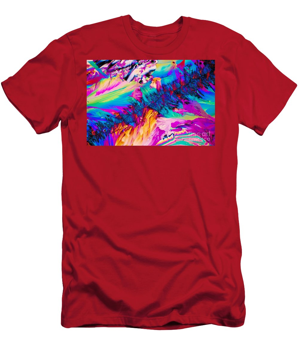 Tylenol Men's T-Shirt (Athletic Fit) featuring the photograph Crystal Tylenol by Michael W. Davidson