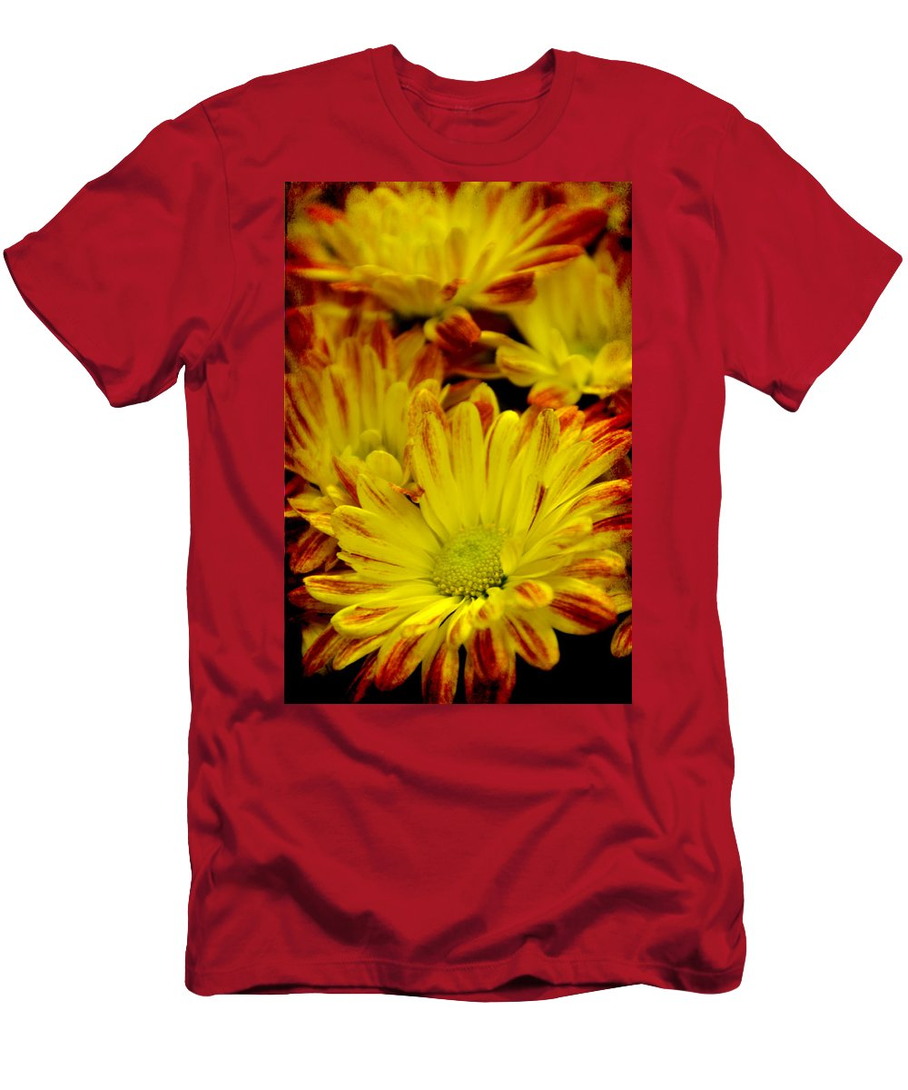 Yellow Men's T-Shirt (Athletic Fit) featuring the photograph Cuddling by Angelina Vick