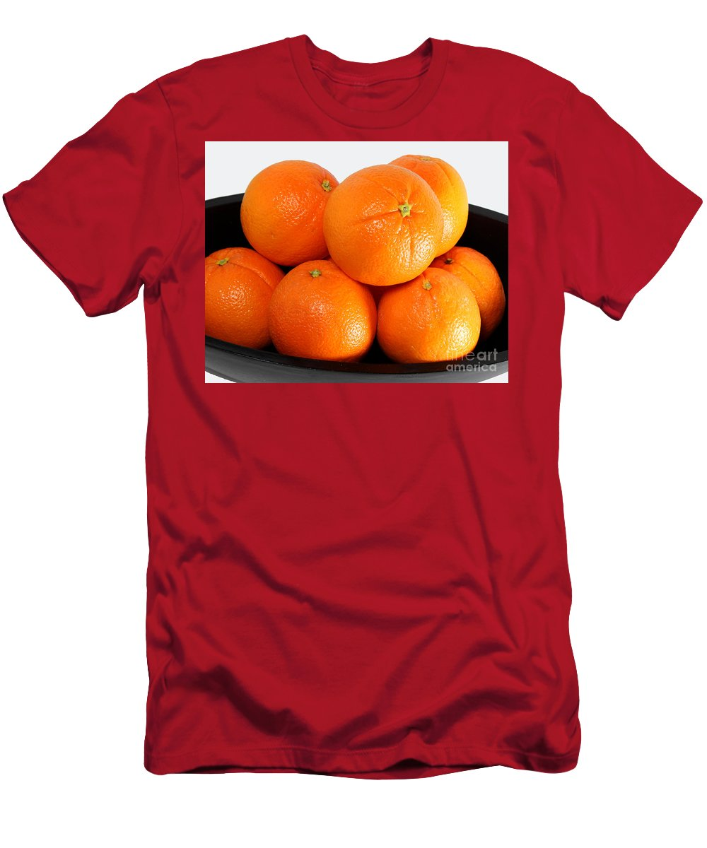 Delicious Cara Cara Oranges Men's T-Shirt (Athletic Fit) featuring the photograph Delicious Cara Cara Oranges by Barbara Griffin