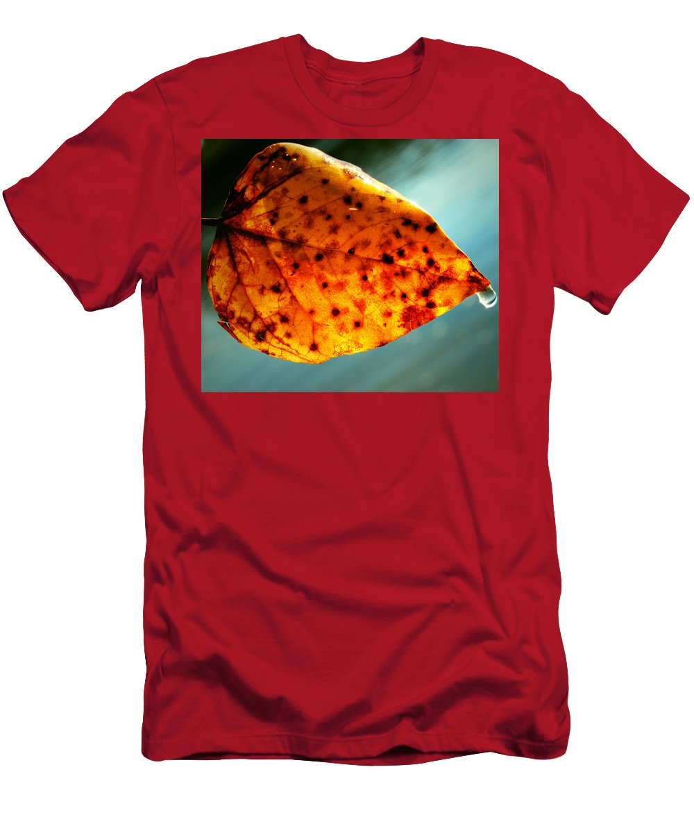 Fall Men's T-Shirt (Athletic Fit) featuring the photograph Dew To The Fall by The Artist Project