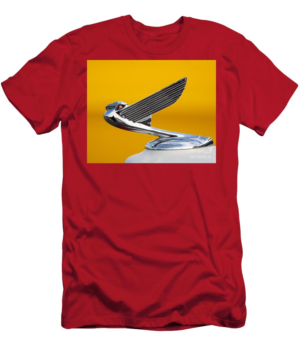 Eagle Men's T-Shirt (Athletic Fit) featuring the photograph Eagle Hood Ornament by Chris Dutton