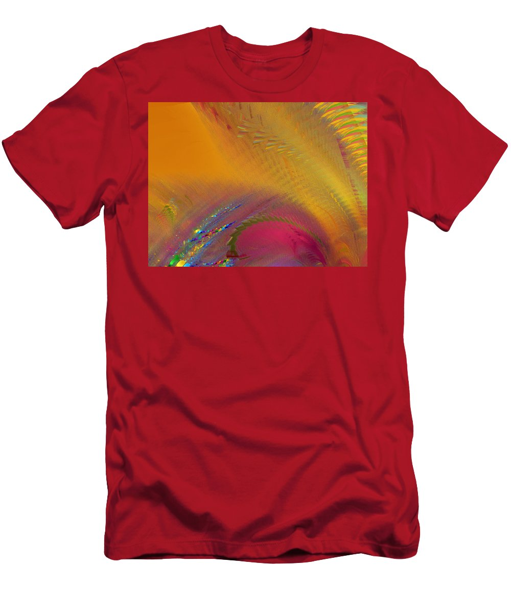 Fractal Men's T-Shirt (Athletic Fit) featuring the photograph Eye Of Jupiter by Mark Greenberg