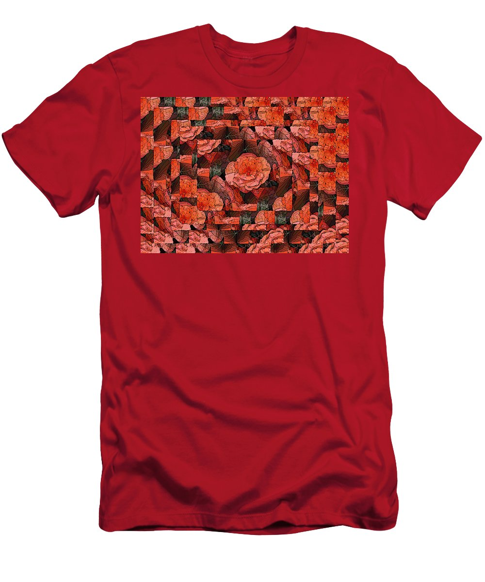 Flower Men's T-Shirt (Athletic Fit) featuring the digital art Flower Garden Delightful by Tim Allen