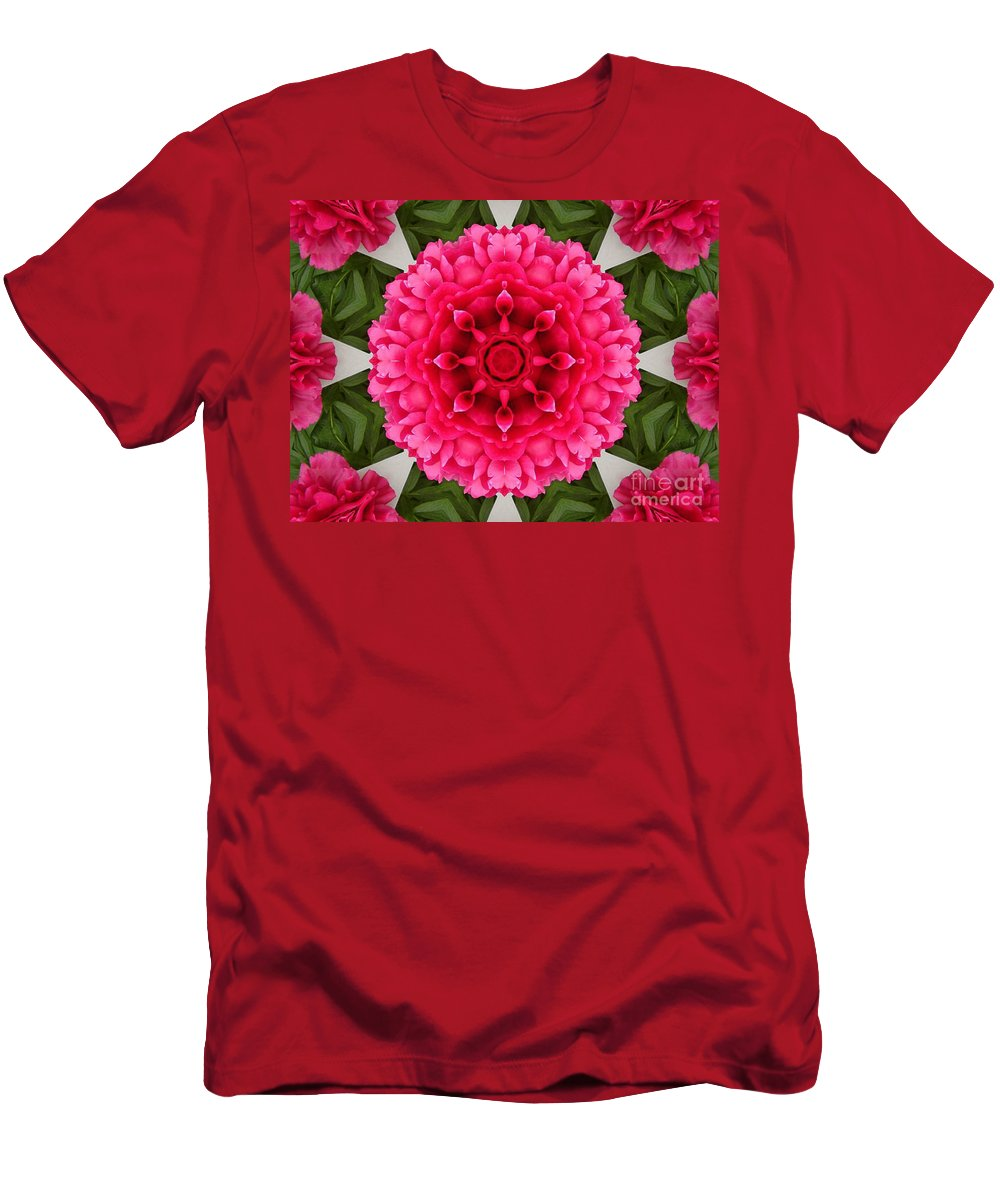 Pink Flowers Men's T-Shirt (Athletic Fit) featuring the photograph Flowery Creation by Barbara Griffin
