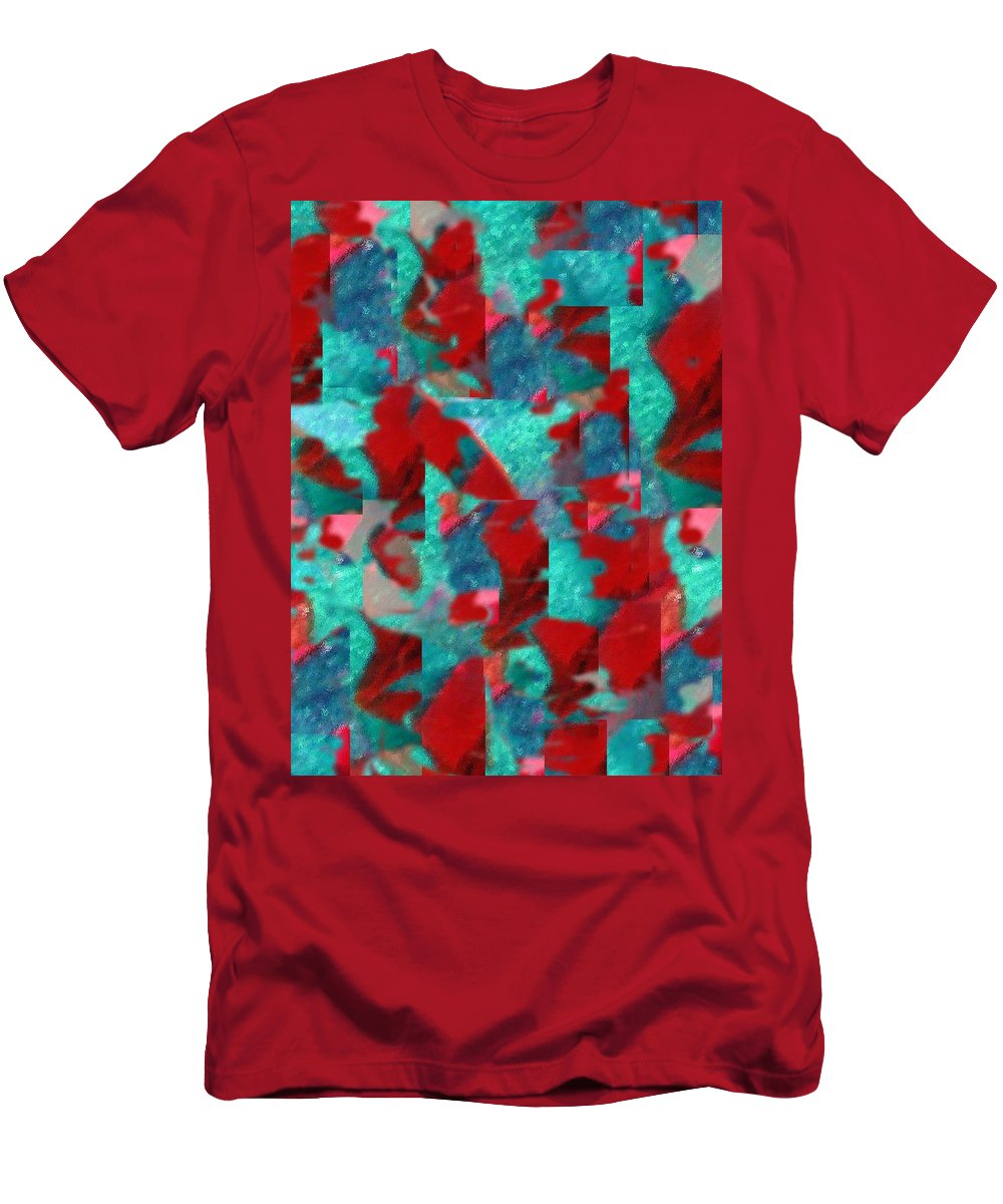 Non Duality Men's T-Shirt (Athletic Fit) featuring the digital art Fractured Memories by Paula Andrea Pyle