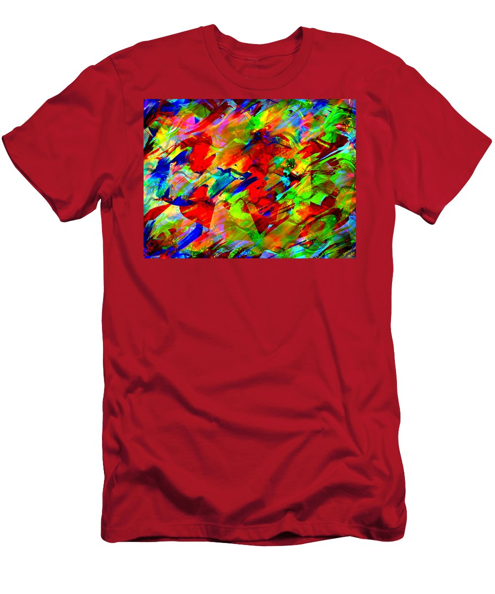 Men's T-Shirt (Athletic Fit) featuring the digital art Frozen Colors by Mathieu Lalonde
