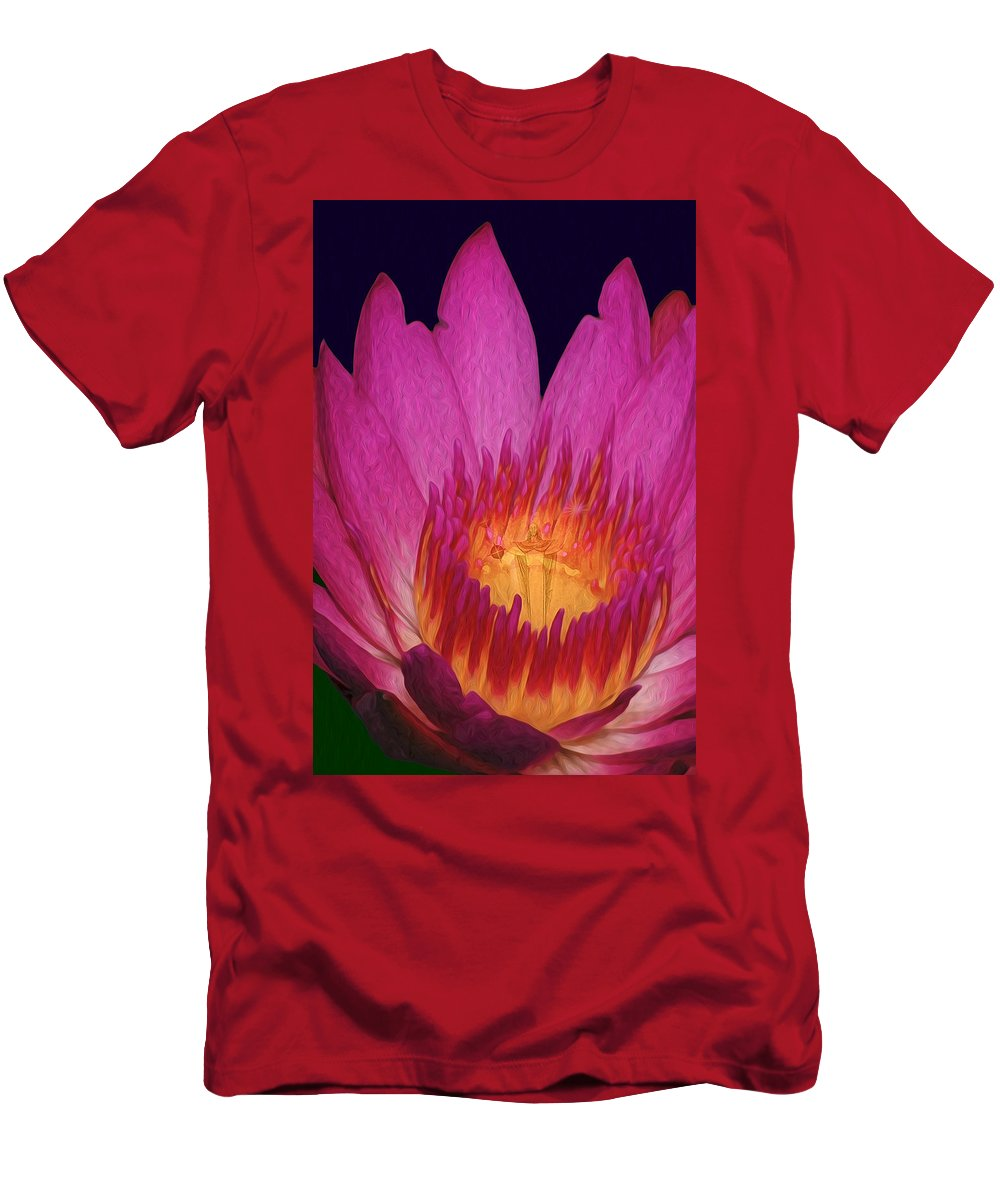 Waterlily Men's T-Shirt (Athletic Fit) featuring the photograph God Is Everywhere by Maggie Magee Molino