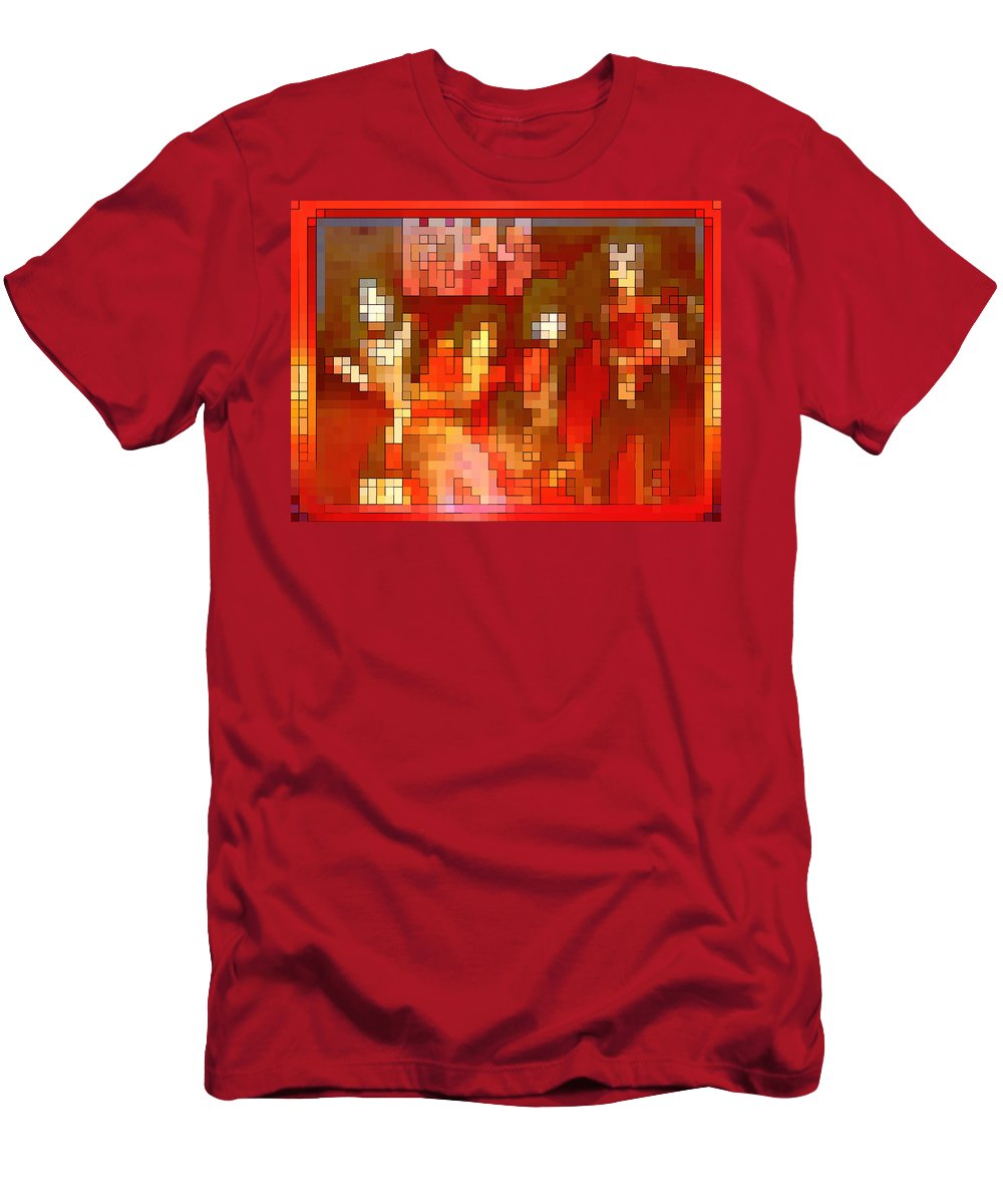 Squint Men's T-Shirt (Athletic Fit) featuring the digital art Just Some Colored Squares by Gordon Dean II